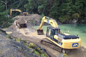 Esquimalt Graving Dock, Waterlot Remediation Fish Habitat Construction