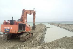 Diavik Dike Foundation Preparation