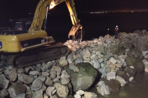 Steveston North Jetty Rock Repairs
