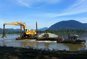 Emergency Bank Protection: Erosion Arc F Fraser River, West Of Page Road
